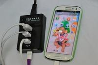 Multi-port porous usb charger plug 4 usb socket power 5 v8a quickly