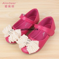 new spring and summer 2014 girls shoes all-match bow tendon end girl Princess shoe exports South Korea children sandals