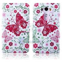 New Arrival 2014 Bird Girl Butterfly Flower Leather Wallet Cover Case For LG Optimus G3 case D855 D850 Elephants