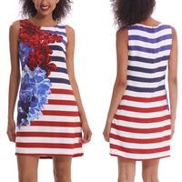 Sexy fashion print dress popular Striped nightclub  dresses
