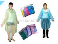1x Universal Disposable Adult Emergency Waterproof Raincoat Hood Poncho Camping travel portable green raincoat 130*85*60cm