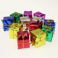 2014 Xmas Christmas Decoration Bundle Christmas Tree Ornaments Multicolour Small Packs Gift Box 2.5CM MIX Color 12PCS/Pack