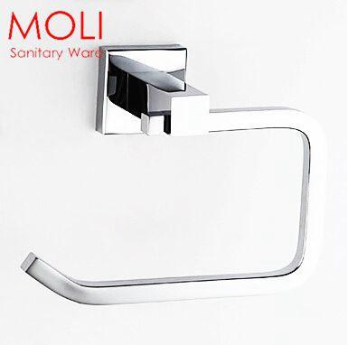 Bathroom Toilet Paper Holder Metal Toilet Roll Holder Bathroom Accessories Brass Chrome Finish(China (Mainland))