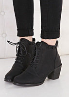 Ladies Autumn Ankle Boots Heels Lace Up Women Booties Shoes Woman Female Black Brown Size 35-40 HLM889-1