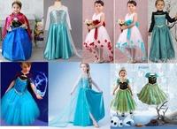 summer dress 2014 New girls clothing Elsa & Anna frozen Dress For Girl Princess Dresses party costume