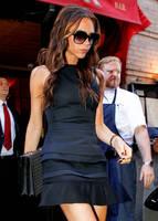 2014 New Hot Sale Victoria Beckham Dress is Sleeveless Design Slim Dress Sexy Mini Ruffled Black Dress Z010#
