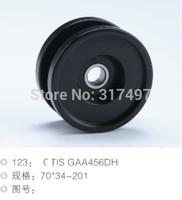 Elevator wheel , Escalator roller 70*34*6201 GAA456DH black color