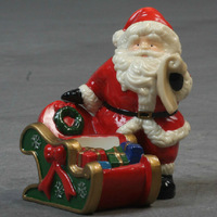 2014 hot sale merry christmas Santa Claus Indoor decorations for party room ceramic christmas decoration