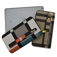 Charming Mens Favorite Dual Zipper Business Style OL Leather Wallet 8 slots casual Clutch Wallets for Men
