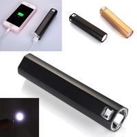 700LM 4 Mode High Power Portable Mini CREE LED Flashlight Torch Light Power Bank for iPhone iPad Samsung Nokia Smartphone 30PCS
