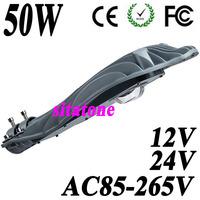 wholesale Free shipping  12V 24V AC85-265V 50W cob LED street light 45mil Bridgelux 130lm/W chip AC85-265V 2 years warranty