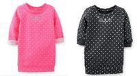 Hot selling freeship Girls Polka Dot Casual Long Sleeve Autumn 100%Cotton T-shirt Baby & Kids Fashion Girl T Shirt New 2014 1122