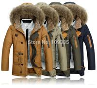 2014 winter men's keeping warm duck's down jacket outdoors Parkas plus size eiderdown hot sell free ship