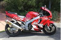 Motorcycle Fairing kit for KAWASAKI Ninja ZX6R 94 95 96 97 ZX 6R 1994 1995 1996 1997 Red white Fairings set +7 gifts ST11