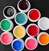 24 Color Nail Gel Solid Pure Uv Builder Gel Set Nail Art False Full French Tips Salon Set MJSR5001