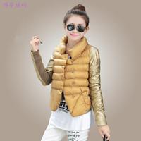 Cotton-padded Winter Jacket Women Slim Warm Outerwear parkas New 2014 Fashion Ladies Designer Down Short Design Coat