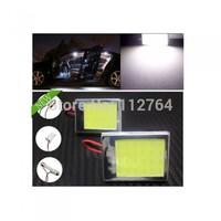 Aluminum T10 Dome Festoon Car Interior License Plate COB LED Light Lamp+3 Adapter Free shipping
