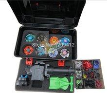Beyblade комплект ас дети подарки ( больше , что 30 запчасти запчасти + 8 beyblades 1 ручки + 2 пусковые установки beyblade коробка )