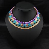 Wholesale Gypsy Jewelry Fashion Perfume Women Colar Bijoux Necklace Vintage Colorful Colares Femininos Statement Necklace
