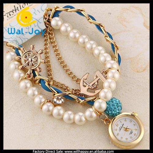 Pearl Bracelet Watches Pearl Band Girls Bracelet