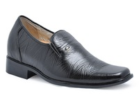 New handmade good quality business height oxfords men elevator dress shoes become taller 7cm / 2.75inches