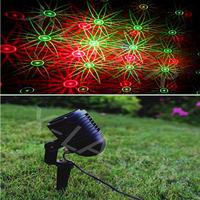 elf Red&green moving Christmas eight flower garden laser /outdoor Bliss lights/outdoor garden light/Christmas patterns lights