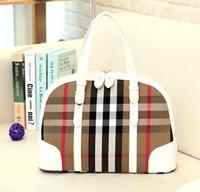 New arrival fashion shell shaping Women's handbag , brand design fashion shell Plaid bag vintage women's evening tote