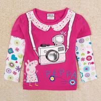Peppa Pig Shirt Long Sleeve Girl Shirt Peppa Clothes Kids Clothes Brand Baby Girls Tops T Shirts