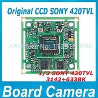Free Shipment hot oringal 420TVL Color Sony CCD Board CCTV Camera Board for CCTV Security camera  3142+633 420TVL chipboard