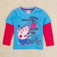 Kids baby wear Peppa pig Boys t shirt Nova Brand children long sleeve t shirt for boy kids A5291Y