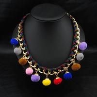 Aliexpress Wholesale Perfume Women Jewelry Fashion Collar Necklace Vintage Costume Colares Femininos Statement Necklace