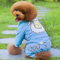 New Style Pet Dog Clothes Cool Sheep Four Leg Clothes Pet Dog Clothes  Dog Clothing  Free Shipping  1PCS/LOT