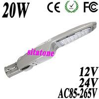 4PCS free shipping 12V 24V AC85-265V 20W  led street light IP65 Bridgelux 130-140LM/W LED  led street light 2 year warranty