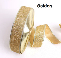 Free Shipping Christmas Decoration Ribbon 5cm 2 inch Solid Glitter Wedding Grosgrain Festive Party Satin Gift Packing Wholesale