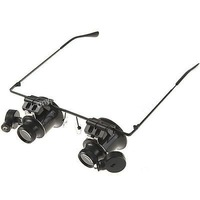 20X Magnifier Magnifying Eye Glasses Loupe Lens Jeweler Watch Repair LED Light