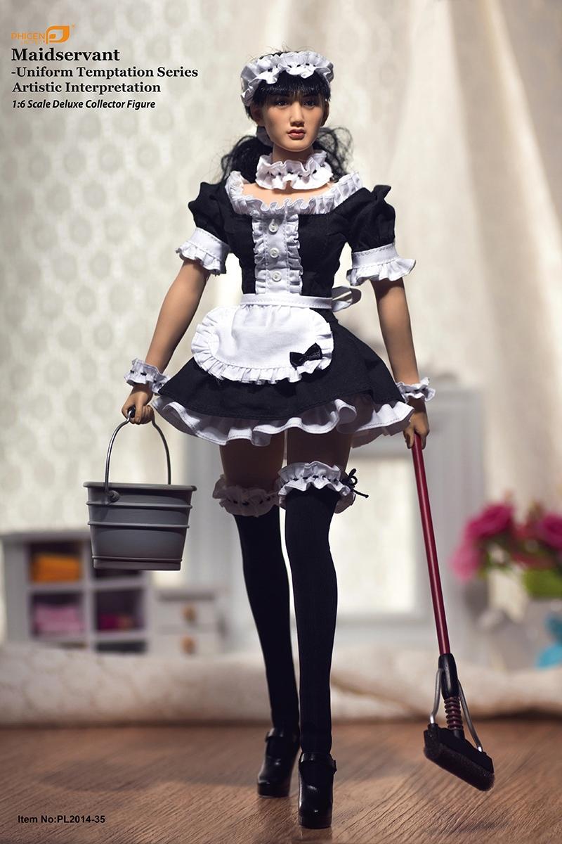 Phicen PL2014-35 1:6 Scale Collector Figure Maidservant-Uniform Temptation Series Artistic 1/6 female action figure(China (Mainland))
