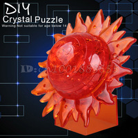 Free shipping 3D three-dimensional crystal puzzle Flash sun assembled model educational toys DIY gift ideas birthday gift