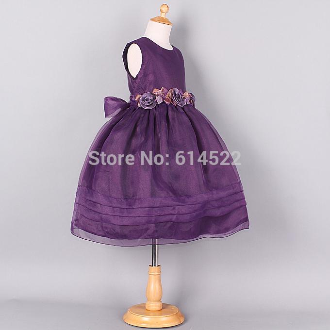 Dresses for christmas flower belt tulle girls wedding dress kids dress
