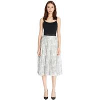 flowers printed elegant chiffon skirts