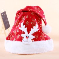 (12PCS/Lot)New year Christmas hat, Santa's hat, Party Hat, Christmas gifts, Size 40*29cm, Christmas decoration,Mix colors