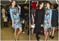 2014 cute cartoon owl printing luxury jacquard Three quarter of sleeve women dress