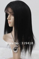 Discount!!New Fashion ! Yaki Straight 100% Indian Remi Human Hair Full Lace Wig Glueless Baby Hair French Lace Wholesale HOT!!!
