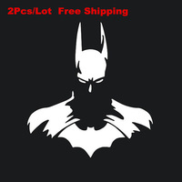 "2pcs Hot Batman Car Stickers BATMAN DC Dark Knight Car Window Vinyl Decal Sticker Car Styling Car Sticker 4.5"" x 5"""