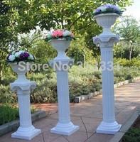 Wedding Decoration White Roman Pillars Height Adjustable Plastic Roman Column with Flower Pots