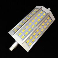 50PCS/lot led floodlight 15W 118mm LED R7s Light of 5730smd 48leds warm white/white AC85-265V 2 years warranty dhl free
