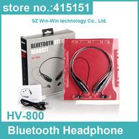 100pcs HV-800 Wireless Bluetooth HandFree Sport Stereo Headset headphone earphone Neckband for Samsung for iPhone for LG