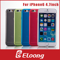 Eloong New arrival TPU Soft cover For iPhone 6 case 4.7 inch Transparent clear 5 Colors free shipping P023