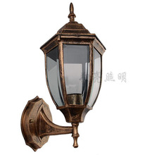 Free shipping,Fashion vintage waterproof outdoor light,aluminum base,transparent glass cover, outdoor stair aisle wall lamp(China (Mainland))