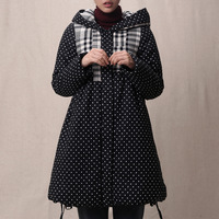 2014 Winter new Korean yards hit the color dots loose thin coat jacket