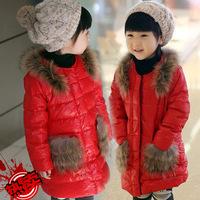 2014 new arrival fashion girls winter coat, girls winter jacket,white duck down hooded children winter outwear WCJ-019